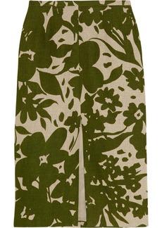 Michael Kors Printed linen pencil skirt