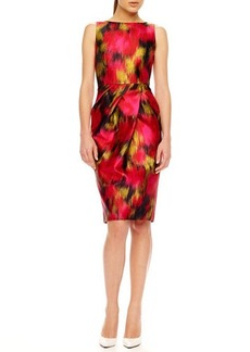 Michael Kors Printed Shantung Dress