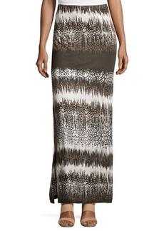 Michael Kors Printed Side-Slit Maxi Skirt