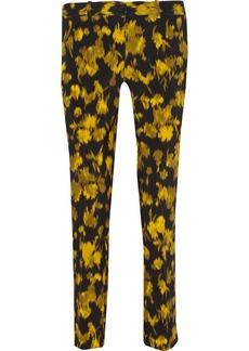 Michael Kors Printed wool-blend straight-leg pants