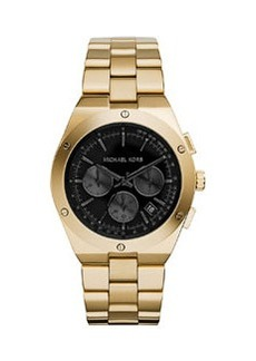 Michael Kors Reagan Golden Stainless Chronograph Watch