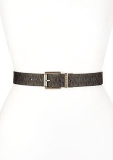 Michael Kors Reversible Logo/Saffiano Belt