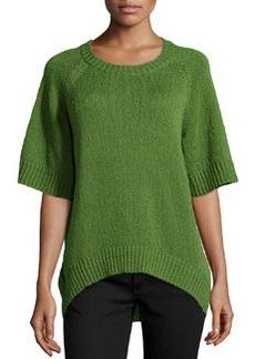 Michael Kors Rib-Trim Boucle Sweater, Grass