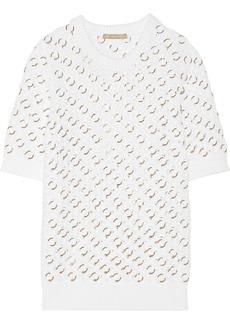 Michael Kors Ring-embellished cotton-blend sweater