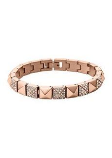 Michael Kors Rose Golden/Pave Pyramid Tennis Bracelet