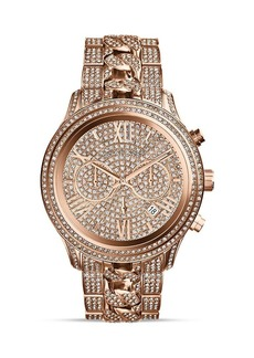Michael Kors Rose Gold–Tone Lindley Chronograph Glitz Watch, 48mm