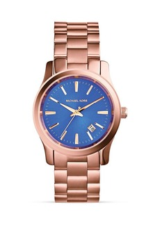 Michael Kors Rose Gold–Tone Runway Three-Hand Watch, 38mm