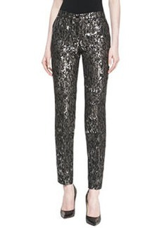 Michael Kors Samantha Brocade Skinny Pants