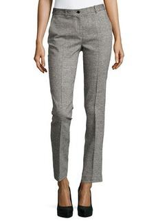 Michael Kors Samantha Herringbone Skinny Pants, Black/White
