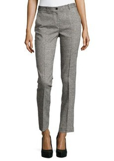 Michael Kors Samantha Herringbone Skinny Pants, Black/White