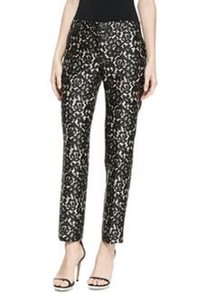 Michael Kors Samantha Lace-Print Pants