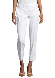 Michael Kors Samantha Skinny Ankle Pants, Optic White