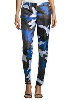Michael Kors Samantha Skinny Camouflage Pants, Royal Multi