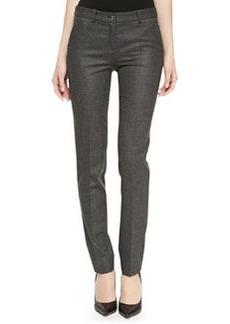 Michael Kors Samantha Skinny Flannel Pants, Charcoal