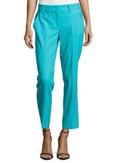 Michael Kors Samantha Skinny Wool Ankle Pants, Aqua