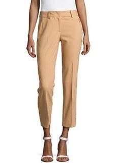 Michael Kors Samantha Skinny Wool Ankle Pants, Suntan