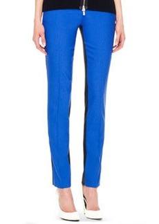 Michael Kors Samantha Two-Tone Slim Pants, Royal