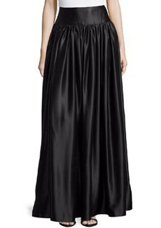 Michael Kors Satin Ball Skirt, Black