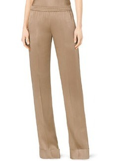 Michael Kors Satin Pull-On Pajama Pants