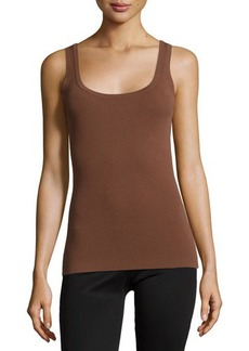 Michael Kors Scoop-Neck Fitted Tank Top