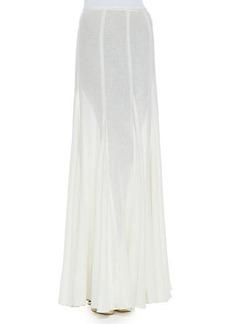 Michael Kors Semisheer Linen Maxi Skirt