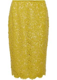 Michael Kors Sequined guipure lace pencil skirt
