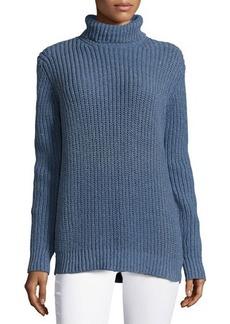 Michael Kors Shaker Long-Sleeve Sweater, Chambray