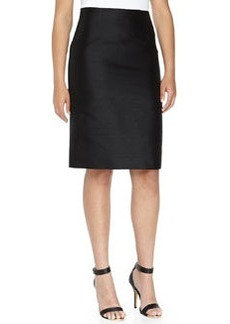 Michael Kors Shantung Pencil Skirt, Black, Women's