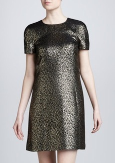 Michael Kors Short-Sleeve Animal Dress