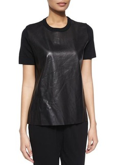 Michael Kors Short-Sleeve Combo Top