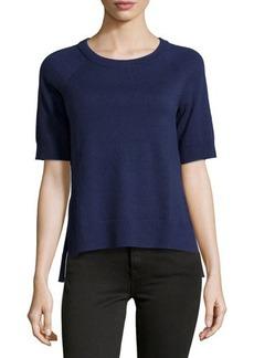 Michael Kors Short-Sleeve High-Low Top