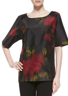 Michael Kors Short-Sleeve Printed Silk Radzimir Tunic