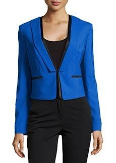 Michael Kors Short Tuxedo Jacket, Royal