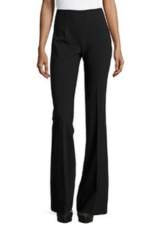 Michael Kors Side-Zip Flared Trousers, Black