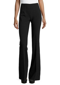 Michael Kors Side-Zip Flared Trousers, Black