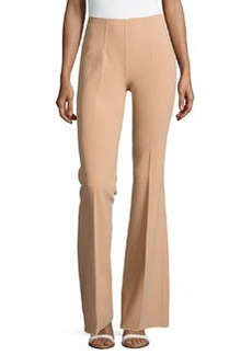 Michael Kors Side-Zip Flared Trousers, Suntan