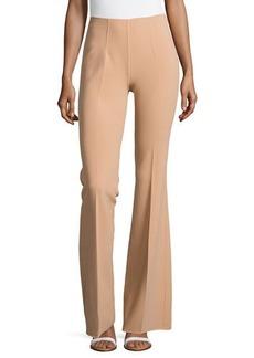 Michael Kors Side-Zip Flared Trousers, Suntan