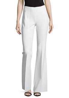 Michael Kors Side-Zip Flared Trousers, White