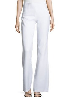 Michael Kors Side-Zip Flared Trousers, White
