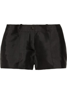 Michael Kors Silk and wool-blend shantung shorts
