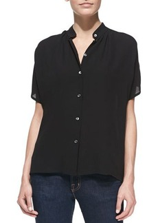 Michael Kors Silk Georgette Short-Sleeve Shirt