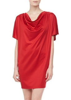 Michael Kors Silk Jersey Draped Dress