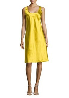 Michael Kors Silk Tank Slip Dress, Chartreuse