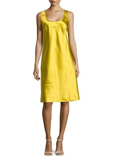 Michael Kors Silk Tank Slip Dress, Chartreuse
