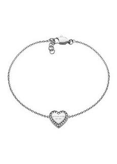 Michael Kors Silver Logo Heart Bracelet