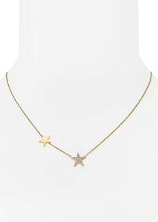 Michael Kors Silver-Tone Star Station Delicate Necklace, 16""
