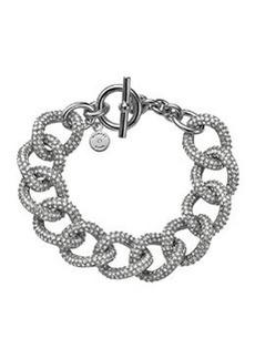 Michael Kors Silvertone Pave Curb-Link Bracelet