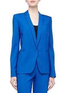 Michael Kors Single Button Gabardine Blazer, Royal