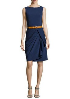 Michael Kors Sleeveless Belted Sheath Dress, Indigo