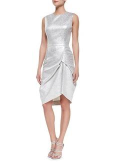 Michael Kors Sleeveless Brocade Jacquard Dress